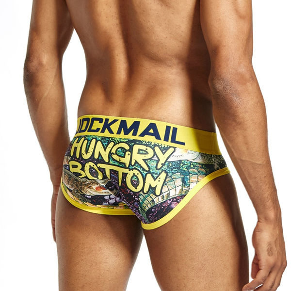 Jockmail Play Briefs Hungry Bottom Yellow